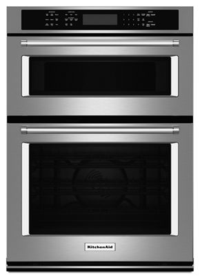 Stainless Steel 30 Combination Wall Oven With Even Heat True Convection Lower Koce500ess Kitchenaid