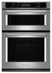 Stainless Steel 27 Combination Wall Oven With Even Heat True Convection Lower Oven Koce507ess Kitchenaid