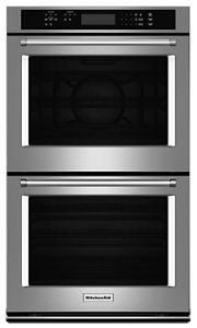 stainless steel 30 double wall oven with even heat true convection rh kitchenaid com kitchenaid convection oven user manual kitchenaid convection microwave user guide