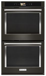 "Smart Oven+ 30"" Double Oven with Powered Attachments and PrintShield™ Finish"