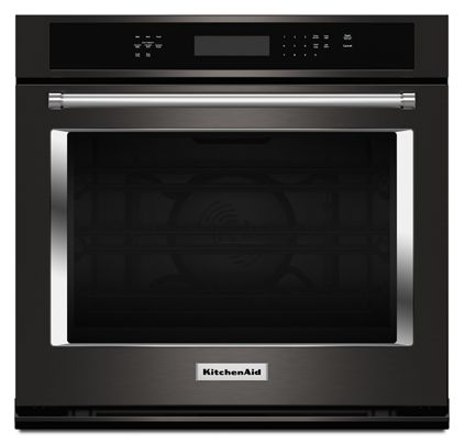Black Stainless 30 Single Wall Oven With Even Heat True Convection