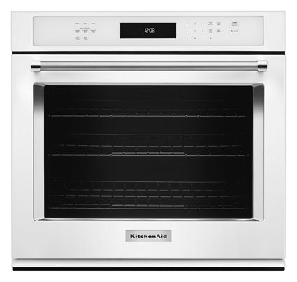 White 30 Single Wall Oven With Even Heat True Convection