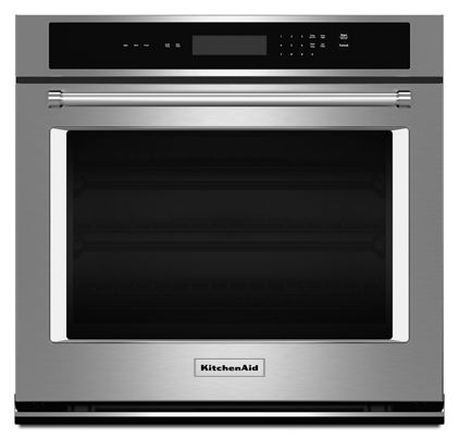 Stainless Steel 30 Single Wall Oven With Even Heat Thermal Bake Broil Kost100ess Kitchenaid