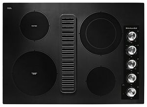 black 30 electric downdraft cooktop with 4 elements kced600gbl rh kitchenaid ca
