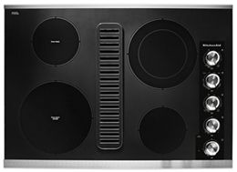 Stainless Steel 30 Electric Downdraft Cooktop With 4 Elements