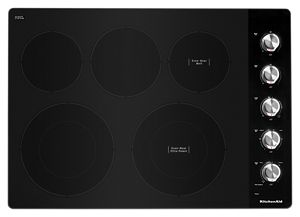 "30"" Electric Cooktop with 5 Elements and Knob Controls"