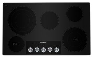 "36"" Electric Cooktop with 5 Elements and Knob Controls"
