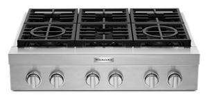 KitchenAid® 36'' 6-Burner Commercial-Style Gas Rangetop