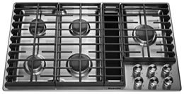 Excellent Stainless Steel 36 5 Burner Gas Downdraft Cooktop Kcgd506Gss Wiring Cloud Hisonuggs Outletorg