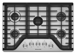 Stainless Steel 30 5 Burner Gas Cooktop Kcgs350ess Kitchenaid