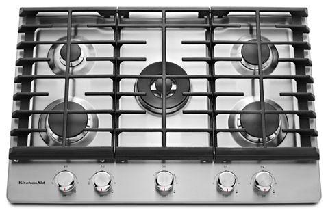 Stainless Steel 30 5 Burner Gas Cooktop Kcgs550ess Kitchenaid