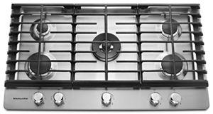 stainless steel 36 5 burner gas cooktop kcgs556ess kitchenaid rh kitchenaid ca