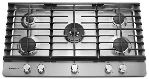 Stainless Steel 36 5 Burner Gas Cooktop Kcgs556ess Kitchenaid