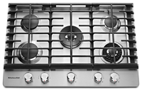 "30"" 5-Burner Gas Cooktop with Griddle"