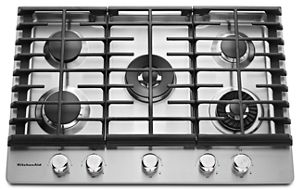 Charmant Stainless Steel 30u0027u0027 5 Burner Gas Cooktop With Griddle KCGS950ESS |  KitchenAid