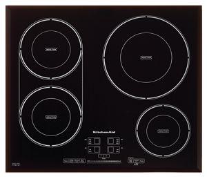 Table de cuisson à induction de 24 po KitchenAid®, 4 éléments, série Architect® II