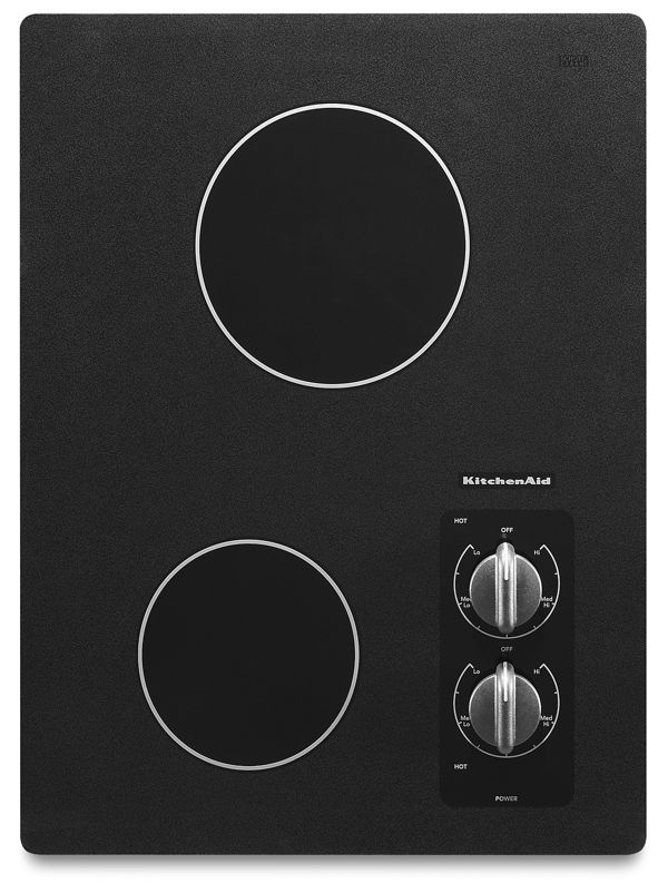 "15"" Electric Cooktop with 2 Radiant Elements"