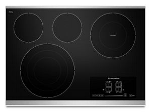 """30"""" Electric Cooktop with 4 Radiant Elements and Touch-Activated Controls"""