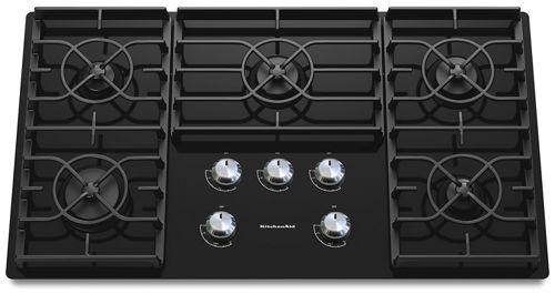 black 36 inch 5 burner gas cooktop architect series ii kgcc566rbl