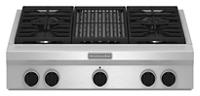 Table de cuisson au gaz 36 po, style commercial KitchenAid®, gril au gaz , 4 brûleurs