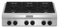 36-Inch 6 Burner Gas Rangetop, Commercial-Style