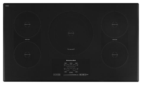Black 36 Inch 5 Element Induction Cooktop Architect Series