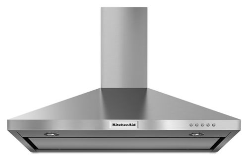 Stainless Steel 36'' Wall-Mount, 3-Sd Canopy Hood KVWB406DSS ... on kitchenaid under cabinet slide out hood, kitchenaid vent hood, kitchenaid slide in stainless, kitchenaid canopy hood,