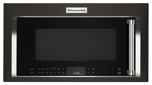 Black Stainless 1000 Watt Convection Microwave Hood Combination Kmhc319ebs Kitchenaid