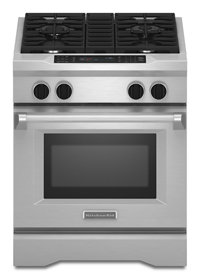 30-Inch 4-Burner Dual Fuel Freestanding Range, Commercial Style