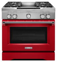 Delicieux 36u0027u0027 4 Burner With Griddle, Dual Fuel Freestanding U2026
