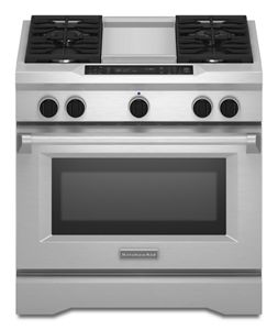 Merveilleux Stainless Steel 36u0027u0027 4 Burner With Griddle, Dual Fuel Freestanding Range,  Commercial Style KDRS463VSS | KitchenAid