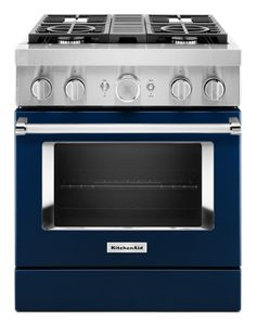 KitchenAid® 30'' Smart Commercial-Style Dual Fuel Range with 4 Burners