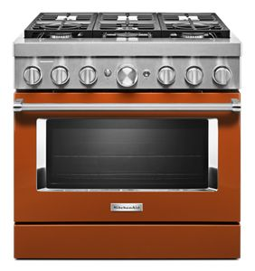 KitchenAid® 36'' Smart Commercial-Style Dual Fuel Range with 6 Burners