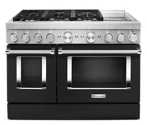 KitchenAid® 48'' Smart Commercial-Style Dual Fuel Range with Griddle
