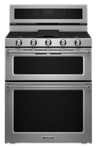 Genial Stainless Steel 30 Inch 5 Burner Dual Fuel Double Oven Convection Range  KFDD500ESS | KitchenAid