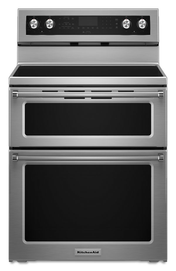 Image of KitchenAid® 30-Inch 5 Burner Electric Double Oven Convection Range