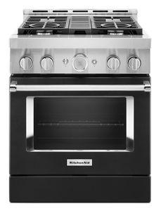 Cuisinière commerciale intelligente au gaz KitchenAid®, 4 brûleurs, 30 po