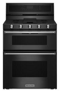 Merveilleux Black 30 Inch 5 Burner Gas Double Oven Convection Range KFGD500EBL |  KitchenAid