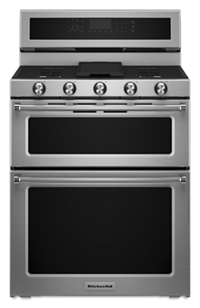 Charmant 30 Inch 5 Burner Gas Double Oven Convectionu2026