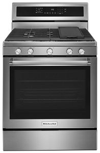 Merveilleux Stainless Steel 30 Inch 5 Burner Gas Convection Range KFGG500ESS |  KitchenAid