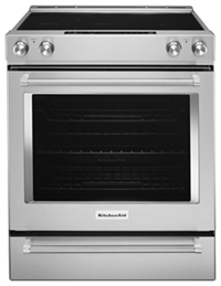 30 Inch 5 Element Electric Convection Slide In Range With Baking Drawer