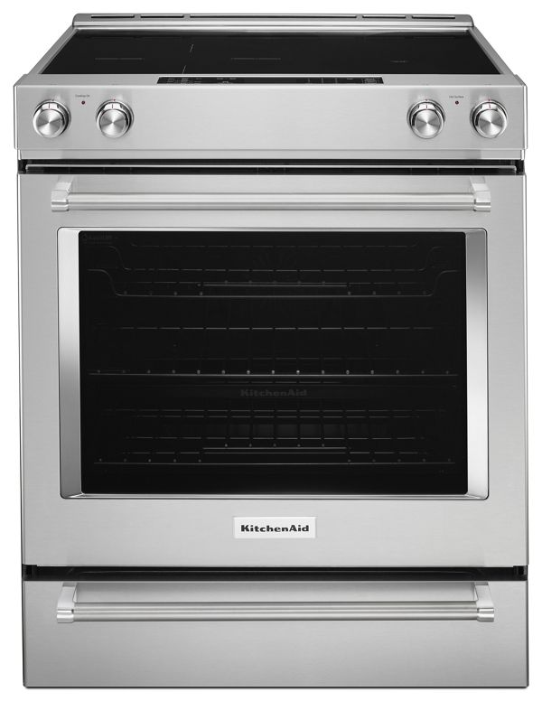 Image of KitchenAid® 30-Inch 5-Element Electric Convection Slide-In Range with Baking Drawer