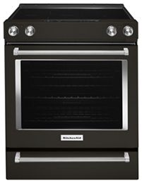 Black Stainless 30 Inch 5 Element Electric Slide In Convection Range
