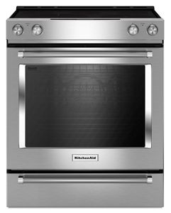 Stainless Steel 30 Inch 5 Element Electric Slide In Convection Range  KSEG700ESS | KitchenAid