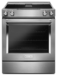 30-Inch 4-Element Electric Downdraft Front Control Range