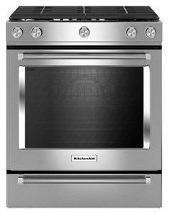 stainless steel 30 inch 5 burner gas convection front control range rh kitchenaid ca