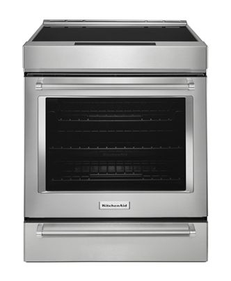 Stainless Steel 30 Inch 4 Element Induction Slide In Convection