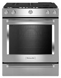 KitchenAid® 30-Inch 5-Burner Dual Fuel Convection  Front Control Range with Baking Drawer