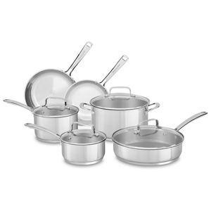 polished stainless steel stainless steel 10 piece set kc2ss10ls rh kitchenaid ca