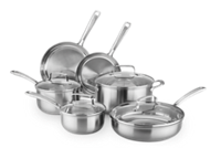 KitchenAid Gourmet Series Tri-Ply Stainless Steel 10-Piece Set
